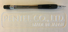 New Pentel Quicker Clicker PD345 Smoke Gray 0.5mm Pencil - Smooth Rubber Grip