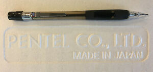 New Pentel Quicker Clicker - Smooth Rubber Grip - Clear Tip - PD345 0.5mm Pencil