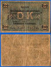 Germany 200 Tausend 1923 Duisburg Notgeld Mark Europe Free Shipping Worldwide