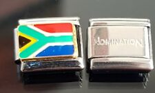 South Africa Flag Italian Charm + 1 Nomination Bracelet Charms Link Classic