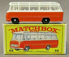 Matchbox #68 MERCEDES COACH orange near mint in F box