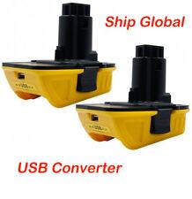 2 x (USB Converter) DCA1820 Dewalt 12V 18V 20V to 18Volt Slide Battery Adapter