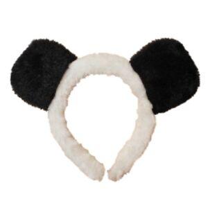 Girls Black and White Panda Ears Alice Hair Band Headband Fancy Dress Party Hen
