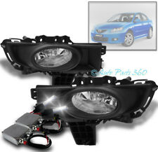 07 08 09 MAZDA 3 SEDAN 4DR BUMPER FOG LIGHTS LAMP CHROME W/50W 6K HID KIT+SWITCH