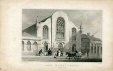 Lady Yester´s Church´Edimburgo grabado por W. Radclyffe sobre obra de Th.R. Shep