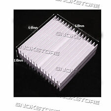 1pcs 60x60x10mm HEAT SINK ALUMINUM for memory CHIP CPU VIDEO DISSIPATORE ALETTE
