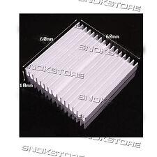 1pcs 60x60x10mm HEAT SINK ALUMINUM for memory CHIP CPU VIDEO DISSIPATORE ALETTE