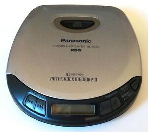 Panasonic Portable CD Player SL-S230 XBS 10 Second Anti-Shock Memory II Vintage