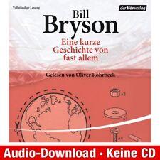 Hörbuch-Download (MP3) ★ Bill Bryson: Eine kurze Geschichte von fast allem