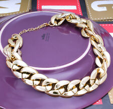 Ladies Women Gold  Silver Chunky Statement Chain Necklace Choker For Women