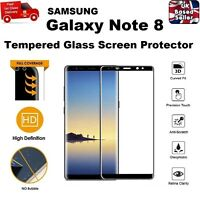 Full 3D Curved Tempered Glass Screen Protector for Samsung Galaxy Note 8 BLACK