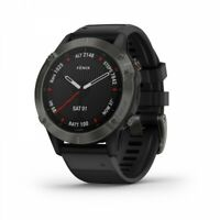 Garmin fenix 6 Sapphire GPS Watch Carbon Gray DLC with Black Band 010-02158-10