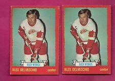 2 X 1973-74 OPC # 1 WINGS ALEX DELVECCHIO  CARD  (INV# A6233)