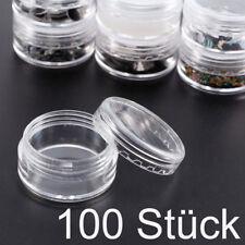 100* 3ml klar leer Dose Behälter Tiegel Schraubdose Döschen Cremedose Kosmetik
