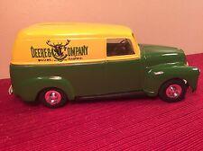 John Deere Implement Co Ertl Truck Bank Die cast 1950 Panel Rubber Wheels Green