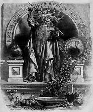 FATHER TIME TOASTS TO A MERRY CHRISTMAS AND HAPPY NEW YEAR 1870 HARPER'S WEEKLY