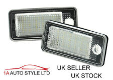 LED Number Plate Lights for Audi A3 A4 A5 Q7 A6 Ice White lamps A8 RS5 RS4 S4 S5