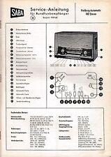 Service Manual-Istruzioni per Saba Friburgo Automatic 100
