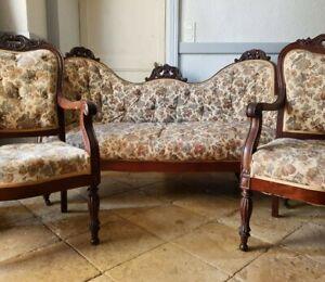 Antique French Louis Phillipe Period Sofa Set - Circa 1820