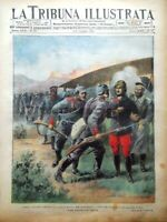 La Tribuna Illustrata 2 Maggio 1915 WW1 Pirandello Avezzano Garros Pegoud Krupp