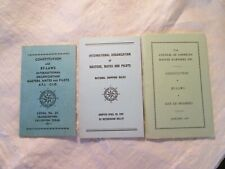 Constitution & By-Laws Internat'l Organization Masters, Mates, & Pilots 3 Books