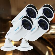 4x OWSOO AHD 720P 1500TVL CCTV Camera + 4*60ft Cable Outdoor IR Night View X7H1