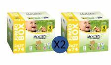 Moltex Couches Taille 4 Maxi Jumbo Biodégradable  - 7 à 18 kg (2 paquets de 74)
