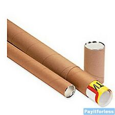 "3"" x 42""  Kraft Telescoping Shipping Mailer Mailing Storage Postal Tubes 24 Pc"