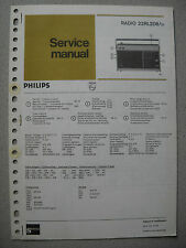 Philips 22 RL208 Kofferradio Service Manual