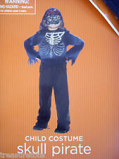 Boys Size Small 4-6 * Skull Pirate * 6-Piece Costume Nwt