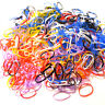 1000 Poly Tails Rubber Braiding Plaits Hair Elastic Bands Clear colour variation