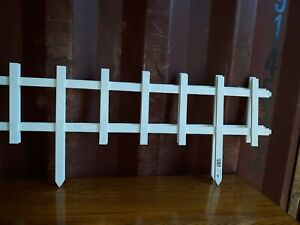 "13"" Garden Fence Panel Interlocking Cape Cod  High-Density Resin 32 pieced"