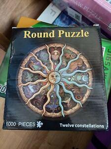 1000 piece jigsaw puzzles round - twelve constellations