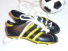 vintage MINIATURE PAIR of ADIDAS soccer Mini Shoes BASKET MINIATURE ballon FOOT