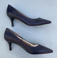 Cole Haan Shoes NEW 11 Marta Pumps Navy Blue Leather Heels NWOB Pointy Toe