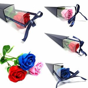 Luxury Soap Single Rose - Gift Boxed - Flower Soaps Set Scented