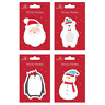 Christmas Novelty Sticky Notes Pad Removable Santa Snowman Stocking Filler Gifts