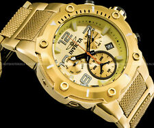 Invicta Speedway Viper Swiss Ronda Z60 Chronograph Deep Dial Gold IP SS Watch !