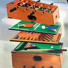 Tischspiele Set 5in1 Kicker Tischtennis Billard Schach Backgammon Spiele Neu