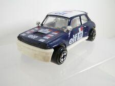 Corgi Juniors, Renault 5 Turbo, Very Dark Blue on white. China base. Elf 18.