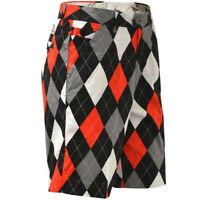 Golf Shorts by Royal and Awesome Diamonds in the Rough Red Black Argyle 30 - 46