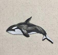 Orca - Killer Whale - Negro/Blanco - Termoadhesivo Aplique/Parche Bordado