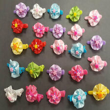 "24pcs Baby Girl Kid Plastic Alligator Hair Clips 1.75"" Hairpin Ribbon Grosgrain"