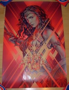 WONDER WOMAN comic movie poster print justice league bottleneck Martin Ansin