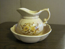 MCCOY FLORAL BOWL AND PITCHER #7528