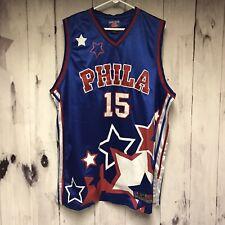PHILA Raw Blue Classics Mens XL Basketball Jersey Stars #15 Blue Sports Apparel