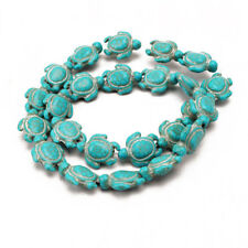 Cute Turquoise Carved Turtle Charms Beads Spacers For Making Bracelet Necklace