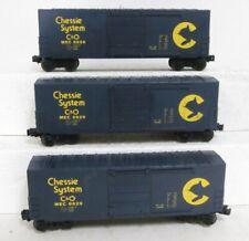 (3) Lionel 6-9629: CHESSIE SYSTEM (C&O)  HI-Cube Box Cars (MEC 9629)