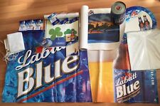 LABATT BLUE BEER COLLECTER SERIES POSTER BANNER COASTER TABLE TENT HOLDER LOT