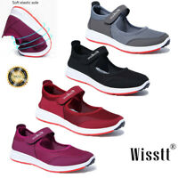 Womens Lightweight Walking Shoes Plus Size Summer Breathable Flat Mesh Sneakers